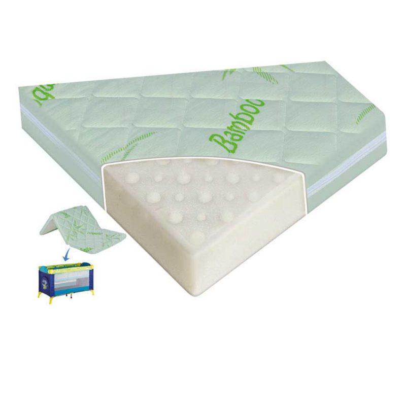 Αντιαλλεργικό Αναδιπλούμενο Στρώμα Για Κούνια η Παρκοκρέβατο – Lorelli Air Comfort Bamboo 120/60/6cm