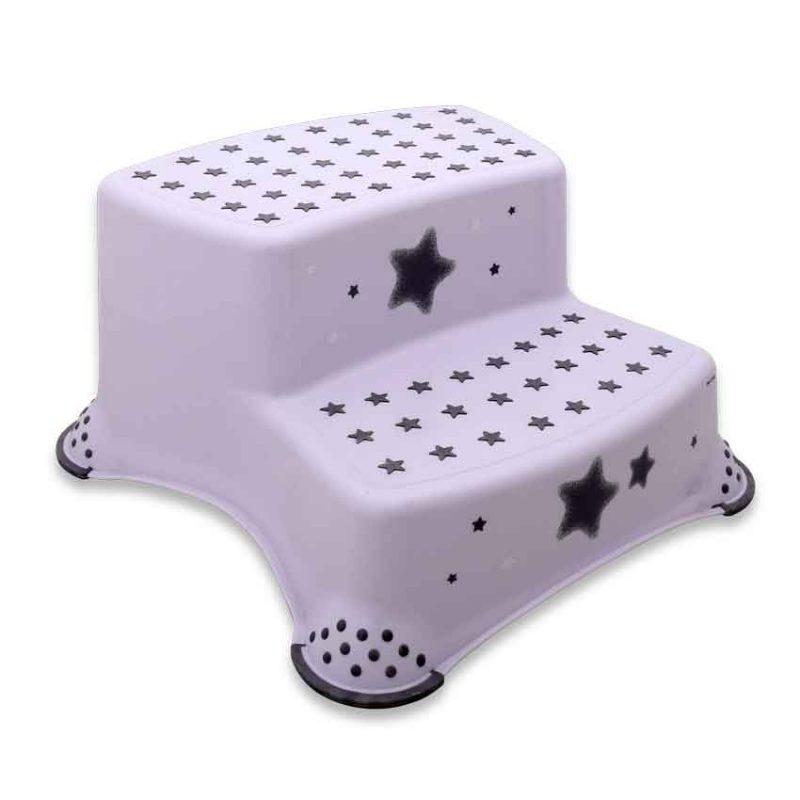 ΒΟΗΘΗΤΙΚΟ ΣΚΑΛΑΚΙ ΜΠΑΝΙΟΥ ΔΙΠΛΟ – LORELLI DOUBLE STEP STOOL STARS WHITE