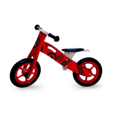 Ξύλινο Ποδηλατάκι ισορροπίας - Moni Wooden balance bike red 5017
