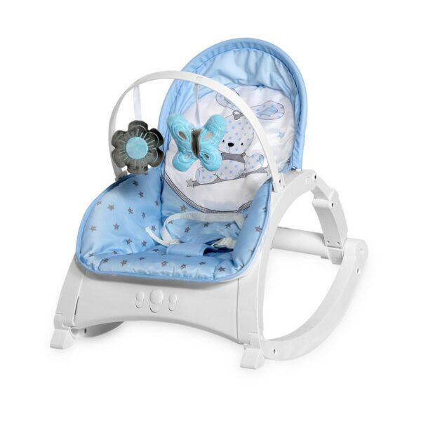 Βρεφικό Ρηλάξ με Μουσική και Δόνηση 0-18kg - Lorelli Baby Rocker ENJOY Blue BUNNY