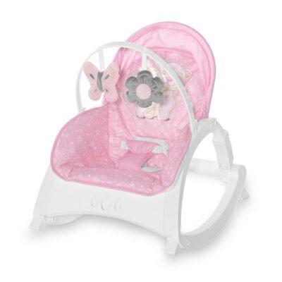 Βρεφικό Ρηλάξ με Μουσική και Δόνηση 0-18kg - Lorelli Baby Rocker ENJOY Pink HUG