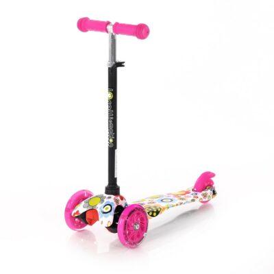 Lorelli Scooter MINI LED Pink FLOWERS 2021