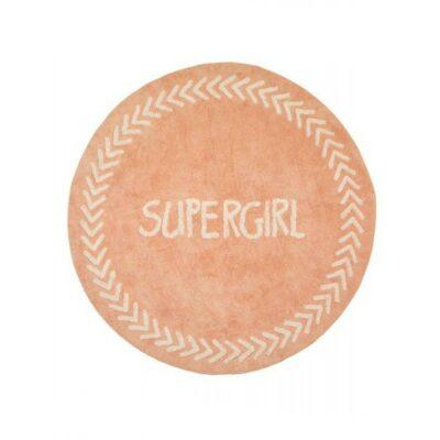 Baby Adventure Χαλί Pink Supergirl 150cm BR75142