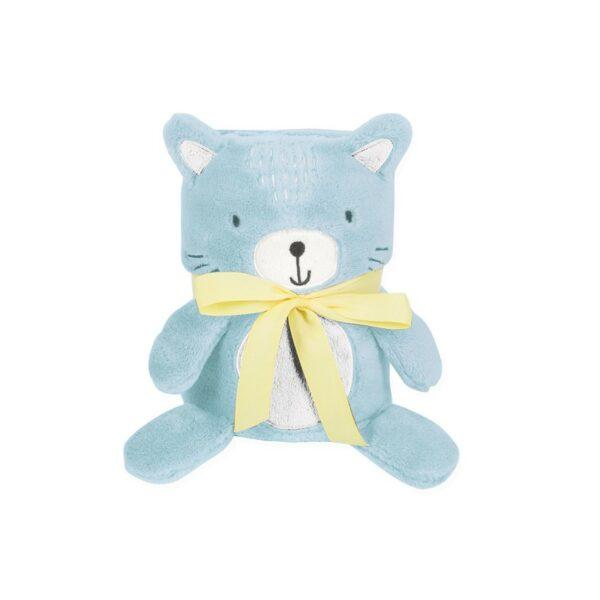 Κουβέρτα Αγκαλιάς 75x100cm με 3D λούτρινο παιχνίδι - Kikka Boo Baby blanket 3D Cat