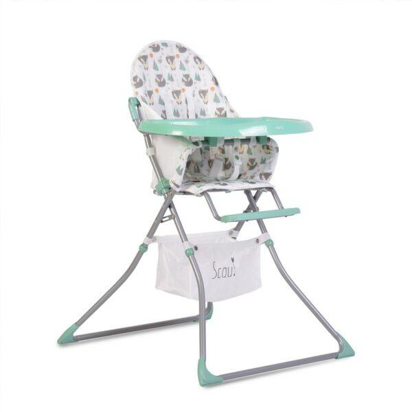 Καρεκλάκι Φαγητού - Cangaroo Baby High chair Scaut mint