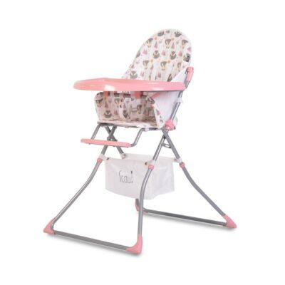 Καρεκλάκι Φαγητού - Cangaroo Baby High chair Scaut pink