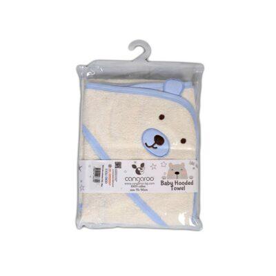 Μπορνουζοπετσέτα Baloo – Cangaroo Hooded Towel Baloo 90/70cm Μπλέ
