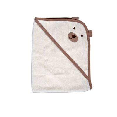 Μπορνουζοπετσέτα Baloo - Cangaroo Hooded Towel Baloo 90/70cm Εκρού