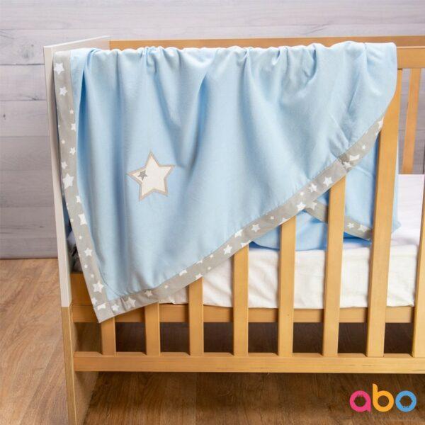 Φανελένια κουβέρτα 110x120 - ABO Σιέλ