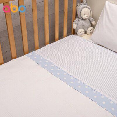 Πικέ κουβέρτα 100x150 - ABO Carousel Σιέλ