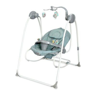 Βρεφικό Ηλεκτρικό Ρηλάξ & Κούνια 2 σε 1 - Lorelli Baby Swing TANGO Frosty Green STARS