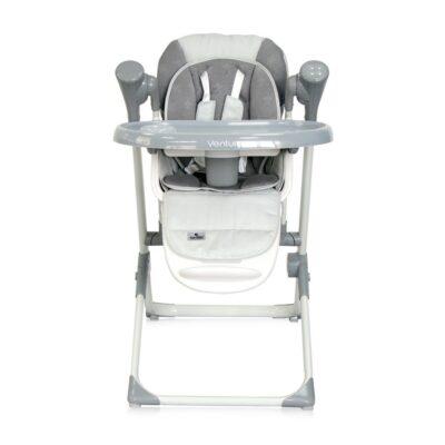 Καρεκλάκι Φαγητού μετατρεπόμενο σε κούνια/ρηλάξ - Lorelli High Chair VENTURA Cool Grey STARS