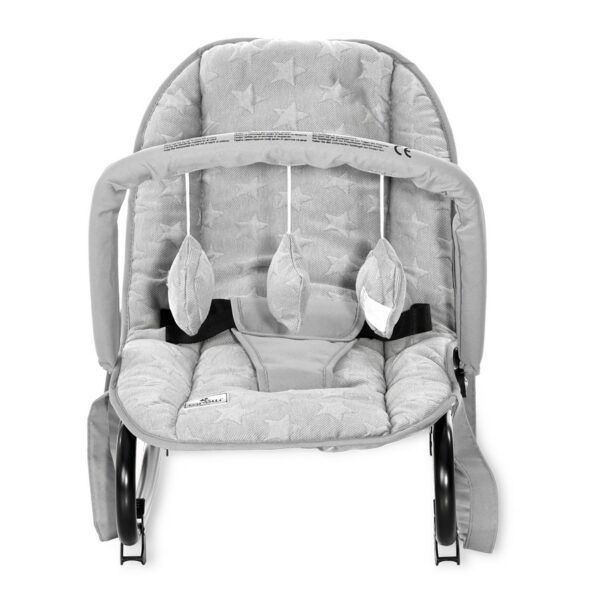 Βρεφικό Ρηλάξ - Lorelli Baby Rocker ROCK STAR LUXE Cool Grey STARS