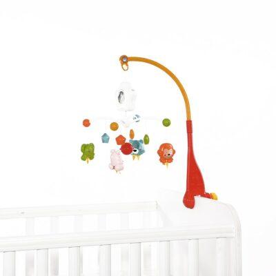 """Μουσικό Παιχνίδι Κούνιας με Προτζέκτορα - Lorelli """"HAPPY ANIMALS"""" Orange"""