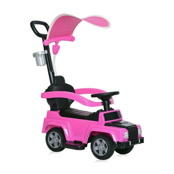 """Περπατούρα Αυτοκινητάκι Με λαβή Γονέα + Τέντα - Lorelli Ride On Car """"X-TREME"""" PINK"""