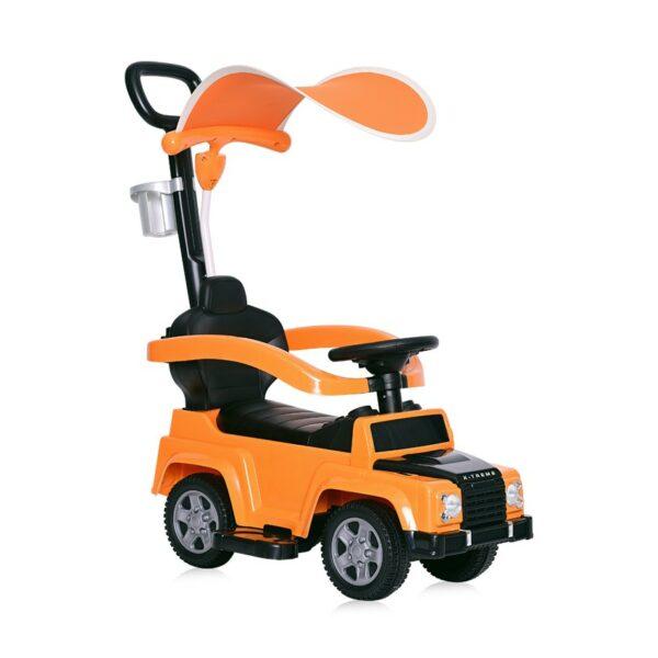 """Περπατούρα Αυτοκινητάκι Με λαβή Γονέα + Τέντα - Lorelli Ride On Car """"X-TREME"""" ORANGE"""