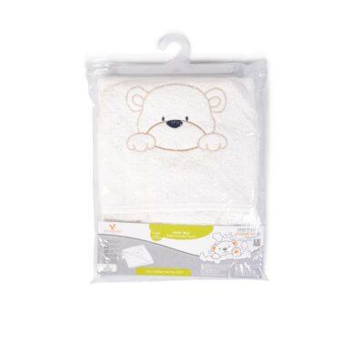 Παιδική πετσέτα με Κουκούλα 75x75εκ. - Cangaroo Baby hooded towel Honey Boo ecru