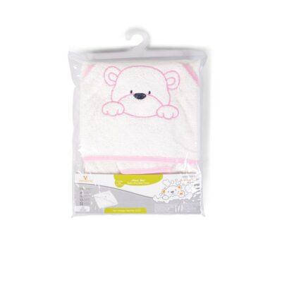 Παιδική πετσέτα με Κουκούλα 75x75εκ. - Cangaroo Baby hooded towel Honey Boo pink