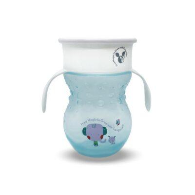 Εκπαιδευτικό Κύπελλο 360˚ Με Χερούλια - Cangaroo Magic cup 270 ml blue