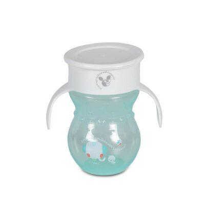 Εκπαιδευτικό Κύπελλο 360˚ Με Χερούλια - Cangaroo Magic cup 270 ml turquoise