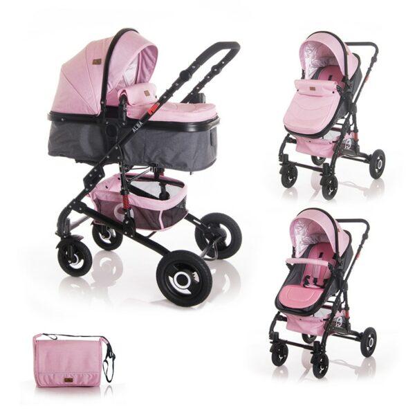 Μετατρεπόμενο καρότσι 2 σε 1 - Lorelli stroller ALBA Pink