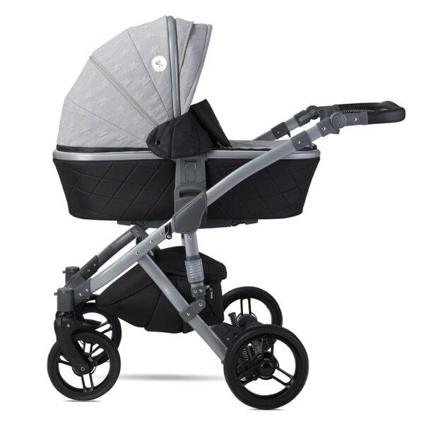 Πολυκαρότσι 3 σε 1 - Lorelli RIMINI Premium Cool Grey STARS