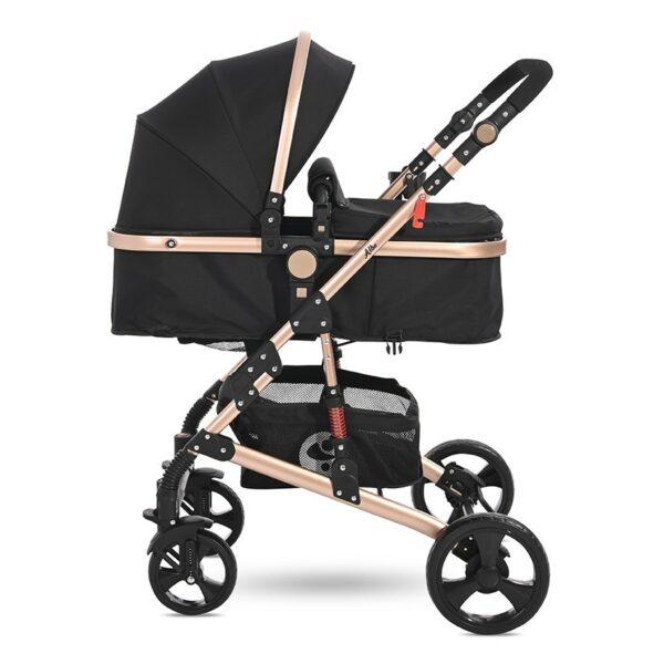Μετατρεπόμενο καρότσι 3 σε 1 - Lorelli stroller ALBA Classic Set BLACK