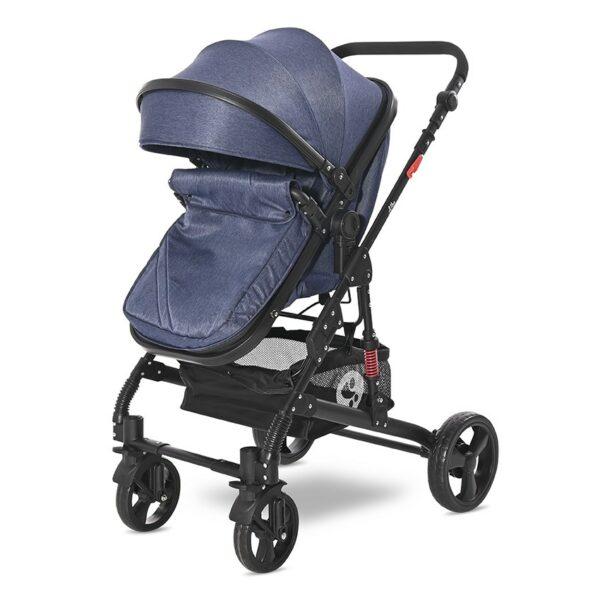 Μετατρεπόμενο καρότσι 3 σε 1 - Lorelli stroller ALBA Classic Set JEANS Blue