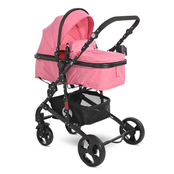 Μετατρεπόμενο καρότσι 3 σε 1 - Lorelli stroller ALBA Classic Set CANDY Pink