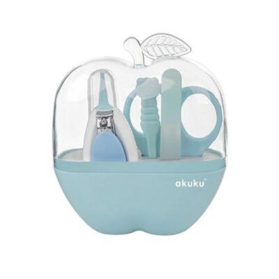 Σετ περιποίησης νυχιών - Akuku Baby Care Kit Apple Light Blue