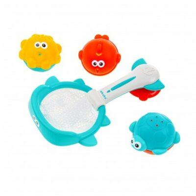 Σετ Απόχη Ψαρέματος με Παιχνίδια Μπάνιου - Akuku Bath toys & Basketball