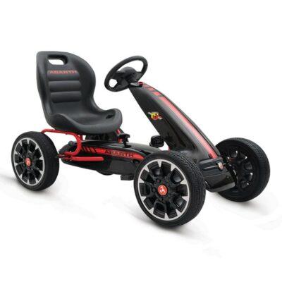 Παιδικό Go Kart Αυτοκινητάκι με πετάλια Eva Soft Wheels - Moni Abarth 500 Assetto Black