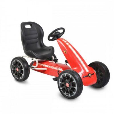 Παιδικό Go Kart Αυτοκινητάκι με πετάλια Eva Soft Wheels - Moni Abarth 500 Assetto Red