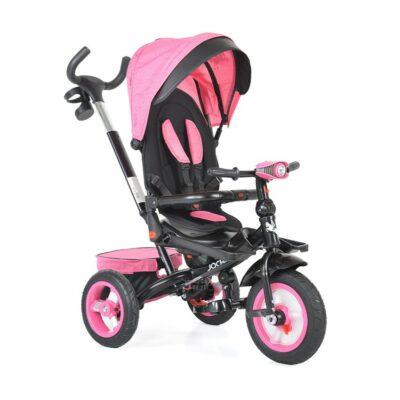 Τρίκυκλο Ποδήλατο με Μουσική & Air Wheels - ΒΥΟΧ Jockey pink