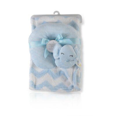 Κουβέρτα Αγκαλιάς 90x75εκ με μαξιλαράκι - Cangaroo Sammy blue