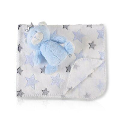 Κουβέρτα Αγκαλιάς 90x75εκ - Cangaroo Blue Bear