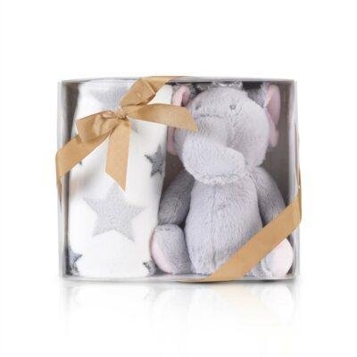 Κουβέρτα Αγκαλιάς 90x75εκ - Cangaroo Little Elephant