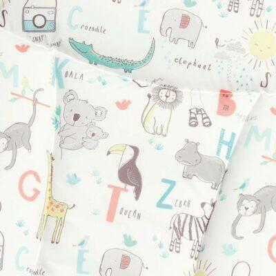 Αλλαξιέρα - Στρώμα Mamas & Papas Light & Essentials Safari White