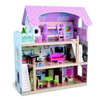 Moni Toys Wooden doll house Mila 4110
