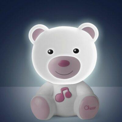 Chicco Αρκουδάκι Φωτάκι Νυκτός με Μελωδία Ροζ Y01-09830-10