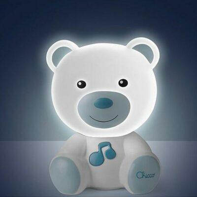 Αρκουδάκι Φωτάκι Νυκτός με Μελωδία 0m+ Blue Chicco 09830-20