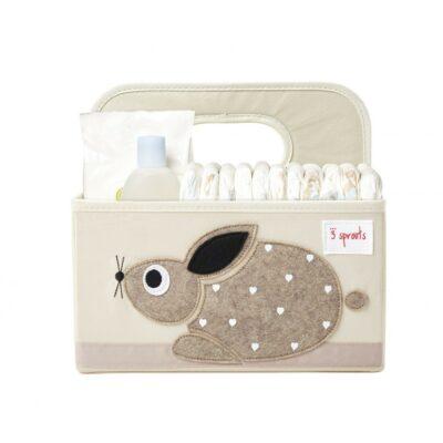 Τσάντα-θήκη για πάνες - 3 Sprouts Diaper Caddy Rabbit