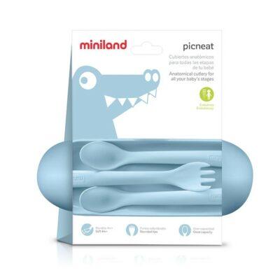 Σετ κουτάλια και πιρούνι με θήκη - MiniLand Picneat Azure