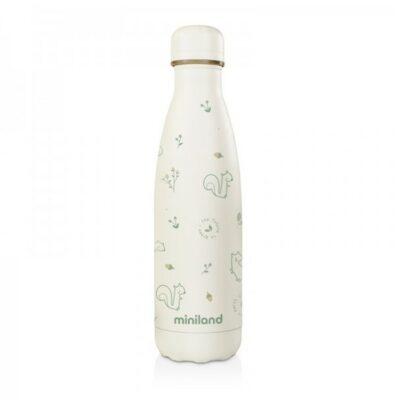 Ανοξείδωτος θερμός Υγρών 500ml - MiniLand Natur Bottle Chip