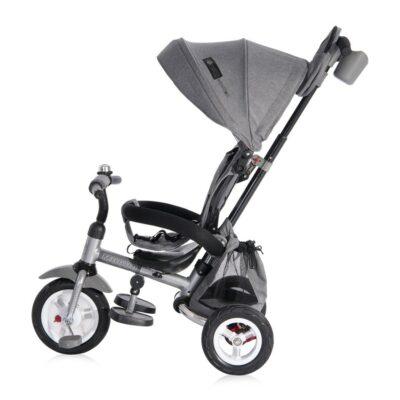 Τρίκυκλο Ποδηλατάκι Με Λάστιχα Αέρα - Lorelli Tricycle Moovo Air Grey LUXE