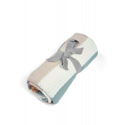 Κουβέρτα Πλεκτή 70x90cm - Mamas & Papas Small Multi stripe blue
