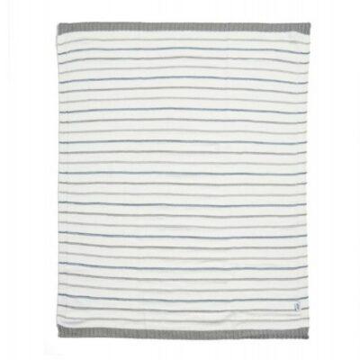 Κουβέρτα Πλεκτή 70x90cm - Mamas & Papas Blue stripe 265