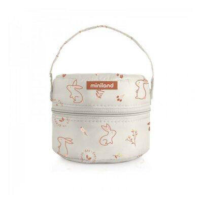 Σετ Γυάλινα Δοχεία Φαγητού 330ml - MiniLand Pack-2-Go NaturRound Bunny