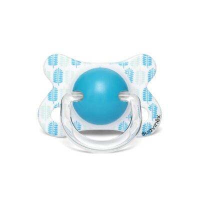 Fusion Πιπίλα Physio/Θ Σιλικόνης 2/4M - Suavinex LEAVES Blue