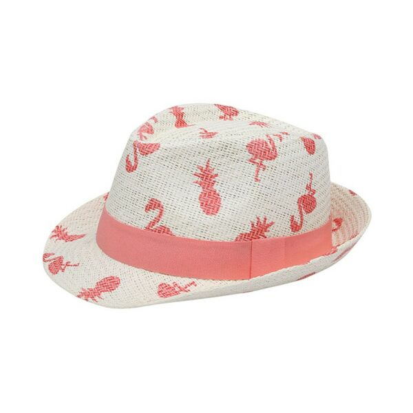 Ψάθινο Καπέλο UPF 50+ – FlapJackKids Flamingo